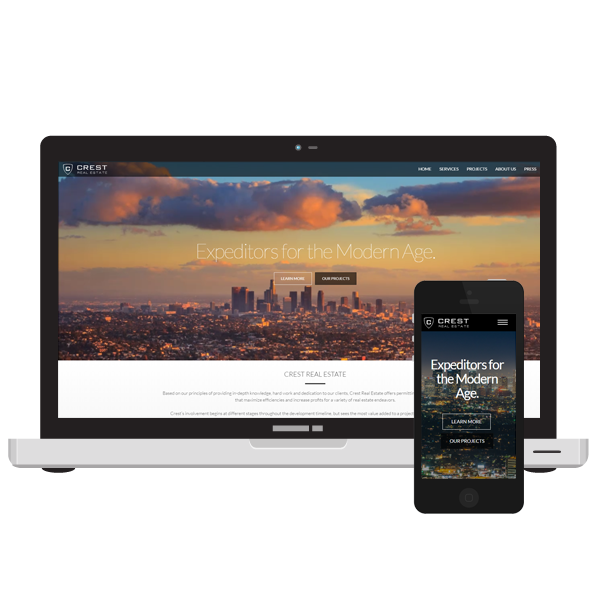 Crest Real Estate Los Angeles web design