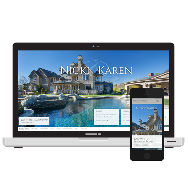 Nicki and Karen Southern California Luxury Real Estate website design