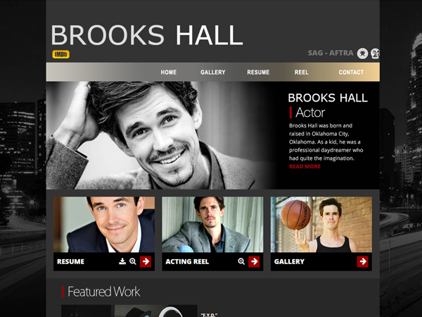 Brooks Hall Actor Web Design Los Angeles