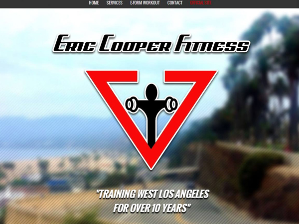 Eric Cooper Fitness Web Design Los Angeles