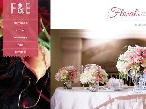 Florals and Events Web Design