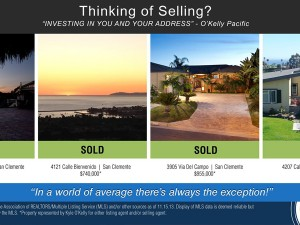 O'Kelly Pacific Real Estate Market Update San Clemente Graphic Design