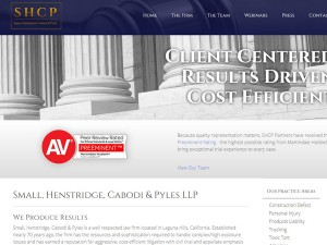 SHCP Law Web Design