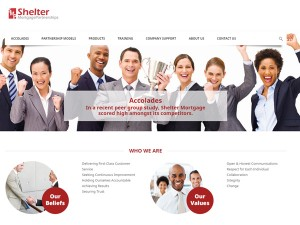Shelter Mortgage Partnerships Web Design