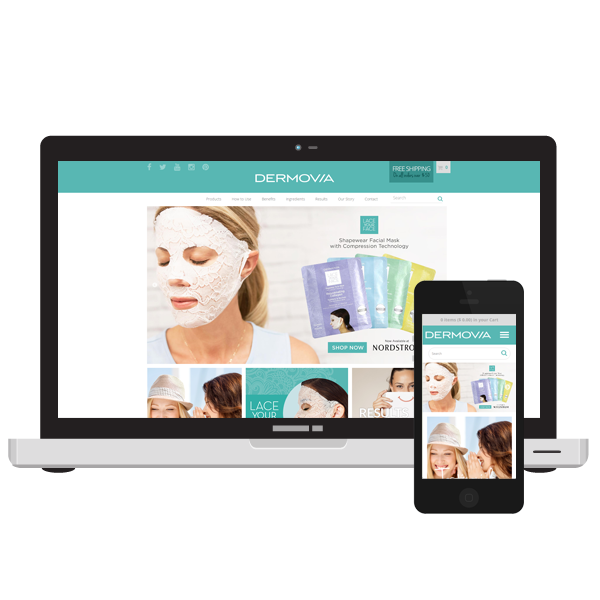 Dermovia beauty website design