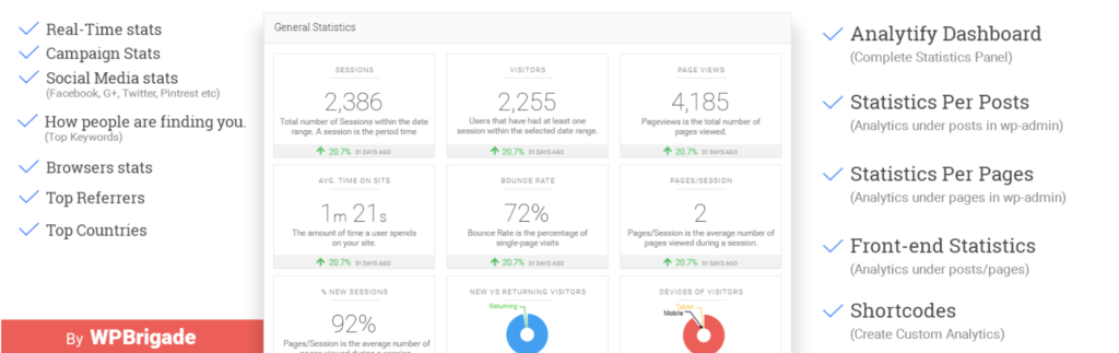 Google Analytics Dashboard Plugin for WordPress by Analytify