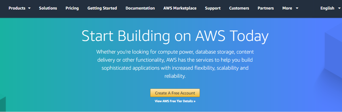 Amazon Web Services web hosting