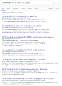 Long tail Google search for carsl for sale