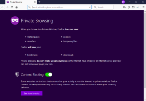 Mozilla Firefox Private Browsing