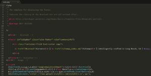 Footer.php WordPress code