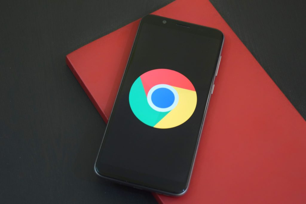 google chrome on mobile device