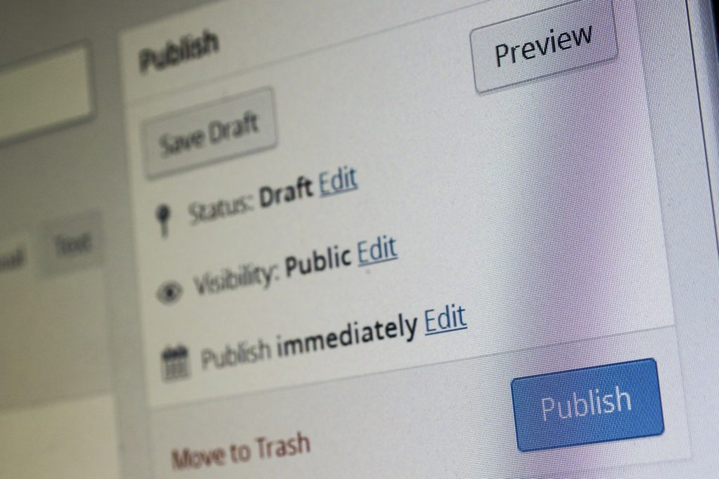 wordpress blog publish
