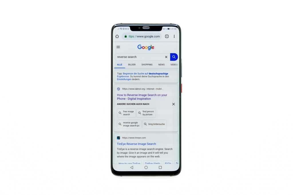 google website on android phone