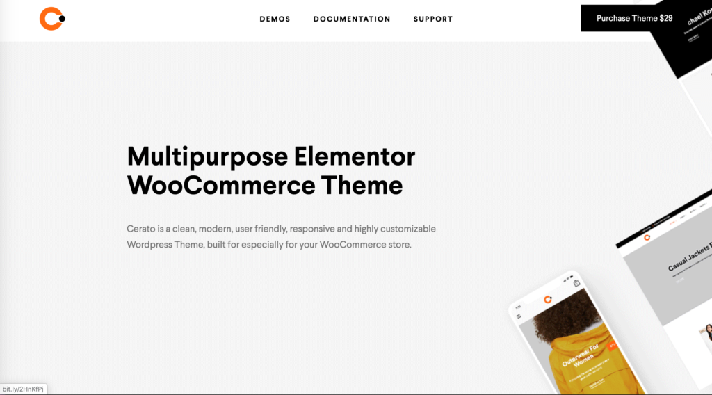 Cerato eCommerce WordPress Theme