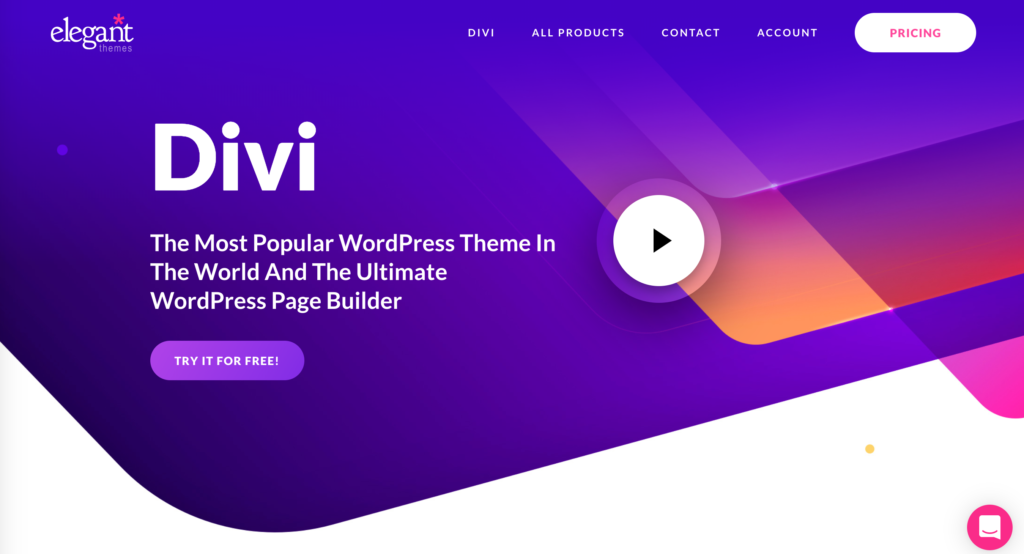 Divi mobile WordPress theme website home page