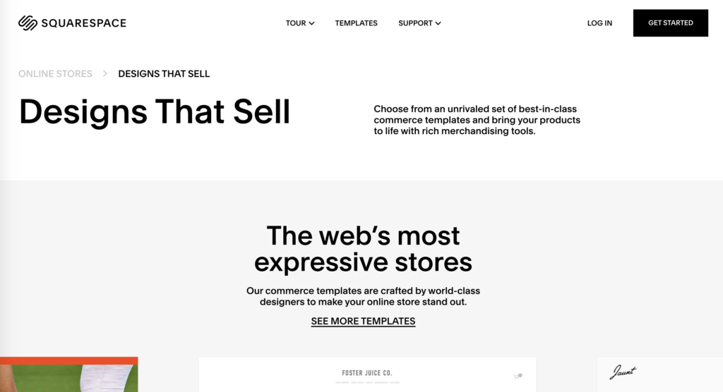 Homepage for Squarespace website