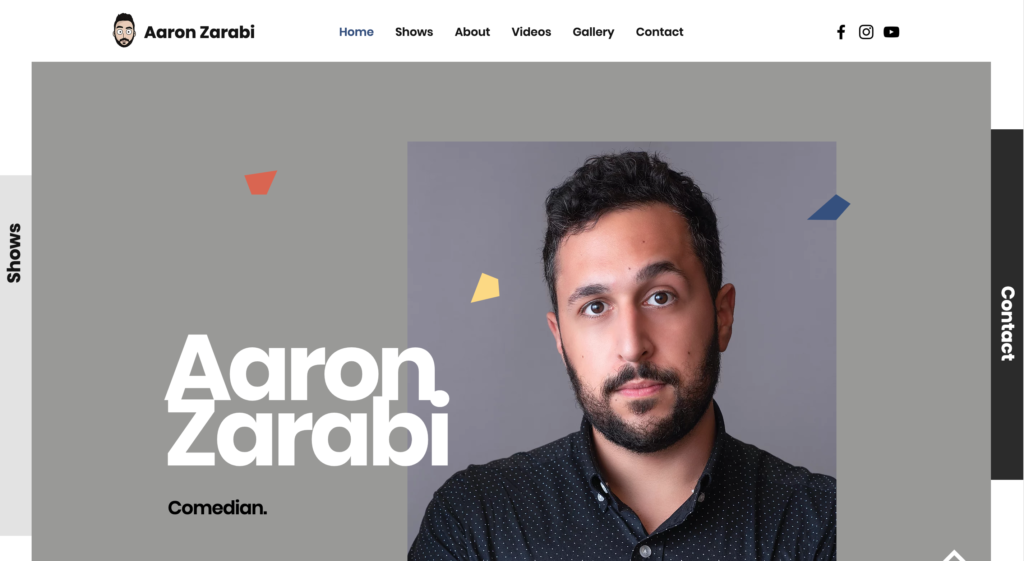 Aaron Zarabi website