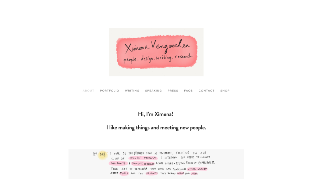 Ximena Vengoechea website