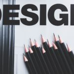 design branding pencils and design word