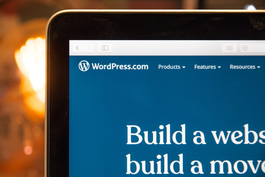 screen with wordpress as a content management system