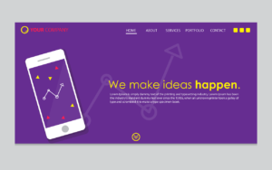 home page features